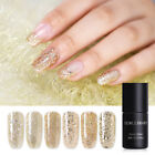 6ml NICOLE DIARY Champagne Gold Glitter Holo UV Gel Nail Polish Soak Off Varnish