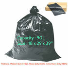 Black Refuse Sacks Bags Bin Liner Rubbish Scrap Waste Recycling Bag 18x29x39