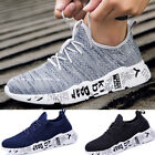 Sneakers Mens Tennis Breathable Casual Shoes Low Top Flex Strap Mesh Knit Collar