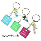 TFB - BEST FRIENDS KEYRING CHAIN Funky BFF School Quirky Leavers Gift Sport Gym