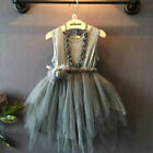 USA Baby Girl Princess Dress Kids Party Wedding Pageant Lace Tutu Tulle Dresses