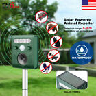 Solar Powered Animal Repeller Ultrasonic Outdoor Waterproof Animal Repellent