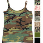 Womens Camo Cami Military Tank Top Slim Fit Tee Stretch Camisole Army Tactical