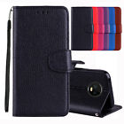 For Motorola Moto G4 Play G5 G6 Plus 2018 Leather Wallet Stand Flip Case Cover