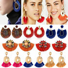 Hot Women Vintage Fish Bohemian Boho Dangle Long Tassel Fringe Ear Drop Earrings image