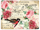 Внешний вид - Vintage Image Pink Roses Birds Postcards Labels Furniture Transfers Decal BIR841