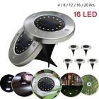 Waterproof 16 LED Solar Power Ground Lamp LED Outdoor Path Garden Buried Light
