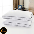 2 Pack Cool Comfortable Hotel Polyester FEATHER Bed Sleeping Pillows Queen Size image