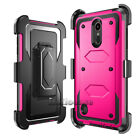 Shockproof Rugged Armor Hybrid Hard Case Protective Cover Clip Holster For LG