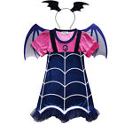 Vampirinas Cosplay Costumes Vampirina Dress And headband 2PCS Kids Party Dress