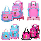 2pcs Ingenious Girls Kids School Bag Backpack Rucksack Bowknot Bookbags Handbag Bags