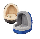 Pet Bed W/ Dome Ceiling Soft & Warm Small/Med Dogs Cats 2 Colors Free Shipping