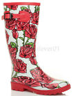 WOMENS LADIES WATERPROOF FESTIVAL CAMPING WELLINGTONS WELLIES WELLY BOOTS SIZE