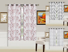 2 PANEL SET GROMMET LINED BLACKOUT WINDOW DRESSING CURTAIN LEAVES PRINTED 84