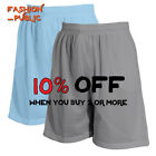 HI MEN CASUAL BASKETBALL SHORTS MESH SHORTS GYM FITNESS ACTIVE 2 POCKETS ELASTIC