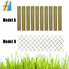 Fence Slat Garden Fence Panels Impregnated 10 PCS Lawn Edging Border Outdoor Net