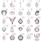Rhinestone Charm Necklace Jewelry Diy Pendant Fit For 18mm Snap Button Pendant