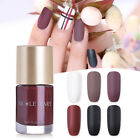 9ml NICOLE DIARY Pashm Matte Series Nail Polish Quick Dry  Varnish Tool