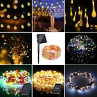 Solar Warm White Night Fairy String Lights Wedding Xmas Party Outdoor Decor Lamp
