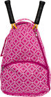 LISH Women's Advantage Geometric Diamond Print Tennis Racquet Holder Backpack
