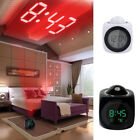Digital Alarm Clock Multifunction With Voice LED Projection Temperature LY