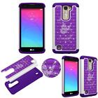 Hybrid Crystal for LG Tribute 5 Shock Proof Thin Case Bling Case Dual Layer