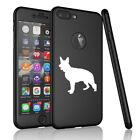 For Apple iPhone 360° Thin Slim Case Cover + Screen Protector German Shepherd