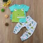 US Seller Newborn Baby Boy Romper T-shirt Top+Long Pants Outfit Set Kid Clothes