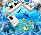 3D Fashion Dolphin 34 Floor Wall Paper Wall Print Decal Wall Deco AJ WALLPAPER
