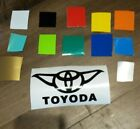 STAR WARS TOYODA TOYOTA DECAL CUT VINYL ANY COLOR RACE DRAG TRACK GARAGE FUNNY $5.99 CAD on eBay