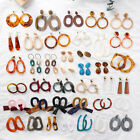 63 Type Acrylic Tortoise Shell Earring Round Circle Resin Hoop Earrings For Lady