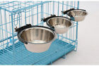 Stainless Steel Hanging Food Water Dish Bowl for Cage Coop Dog Parrot Bird Pet