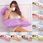 U-Shaped Full Body Pregnancy Pillow Maternity Support for Side Sleeping Cushion image