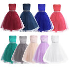For Kids Party Dress Holiday Formal Pageant Wedding Bridesmaid Flower Girl Dress