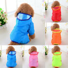 Pet Dog Rain Coat Clothes Puppy Casual Waterproof Jacket Hooded Outdoor Raincoat