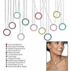 Avon Birthstone Crystal Circle Necklace....2 to Choose!!