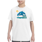 Youth Kids T-shirt Dolphins Jumping k-573