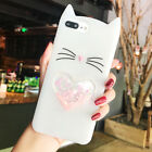 3D Cartoon Kitten Claw Cute Soft Liquid Glitter Silicone Case For iphone X 6 7 8