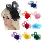 Women Casual Fascinator Net Bow Tie Mesh Hat Cocktail Party