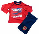 Arsenal Football Club Gunners Pyjamas Long Sleeve Top & Bottoms Ages 4-12 Years