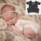 Newborn Baby Girl Clothes Lace Floral Romper Backless Bodysuit Photo Prop new