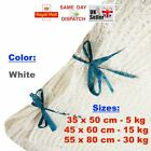 WHITE RASCHEL NET SACK BAGS MESH FRUITS VEGETABLES WOOD LOGS CARROT ONION POTATO