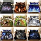 Animals Duvet Cover Bedding Set Pillow Case New Premium HD Printed Wolf Panda 3D
