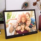 15 Inch Clock MP4 Movie Player HD Digital Photo Frame Album Touch Buttom