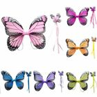 2Pcs Baby Kid Fairy Angel Butterfly Bird Costume Wings Cosplay Party Fancy Dress