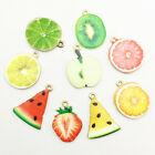 10 Pcs Charms Enamel Fruit Pendants Lovely For DIY Necklace Jewelry Craft