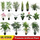 Artificial Plants Fake Green Plant Flowers Home Office Party Garden Decoration