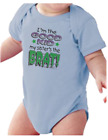 Infant creeper bodysuit One Piece t-shirt I'm The Good Kid My Sister's The Brat