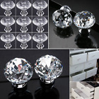 Crystal Glass Door Knobs Drawer Cupboard Cabinet Handle Furniture Handles