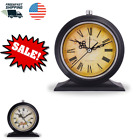 Old Fashion Vintage Retro Shelf Desk Table Alarm Clock Silent with Night Light